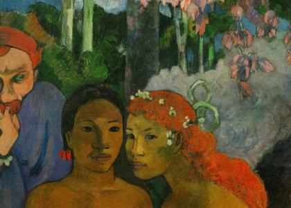 Détail de Contes Barbares, tableau de Gauguin (1902)